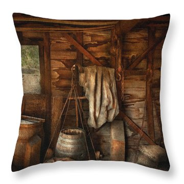 Bar - Weighing The Hops Throw Pillow by Mike Savad