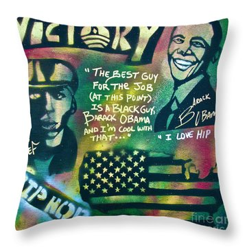 Barack And Mos Def Throw Pillow by Tony B Conscious