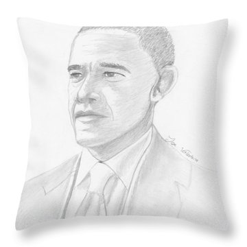 Barack Obama Throw Pillow by M Valeriano