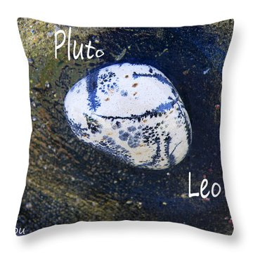 Barack Obama Pluto Throw Pillow by Augusta Stylianou