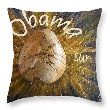 Barack Obama Sun Throw Pillow by Augusta Stylianou