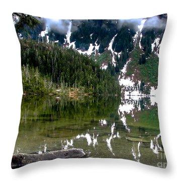 Baranof Lake Throw Pillow by Robert Bales
