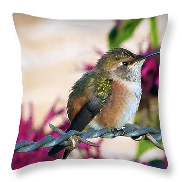 Barbs And Bills Throw Pillow