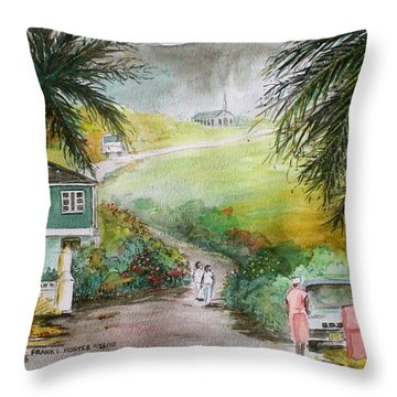 Barbados Throw Pillow