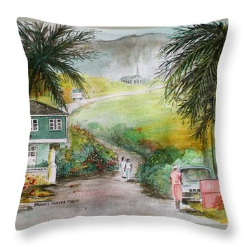 Barbados Throw Pillow by Frank Hunter