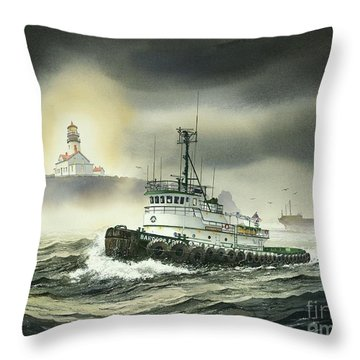Barbara Foss Throw Pillow by James Williamson