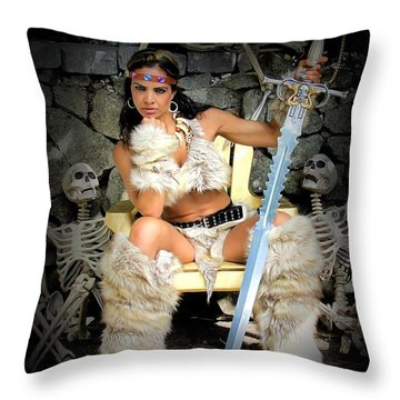 Barbarian Queen Throw Pillow