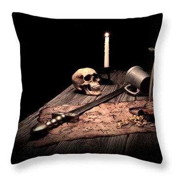 Barbarian Quest Throw Pillow