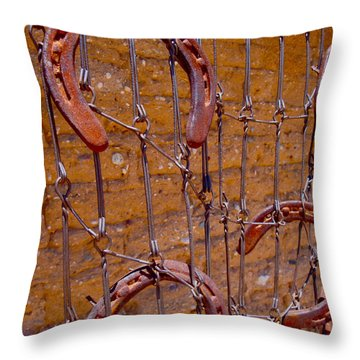 Barbed  Throw Pillow by Cathy Dee Janes