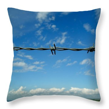 Barbed Sky Throw Pillow by Nina Ficur Feenan