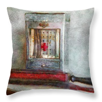 Barber - Always Keep It Clean  Throw Pillow by Mike Savad