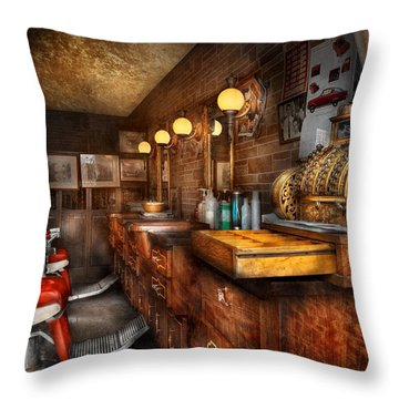 Barber - Closed On Sundays Throw Pillow