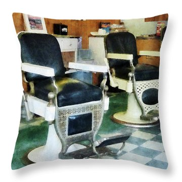 Barber - Corner Barber Shop Throw Pillow