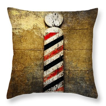 Barber Pole Throw Pillow by Andee Design