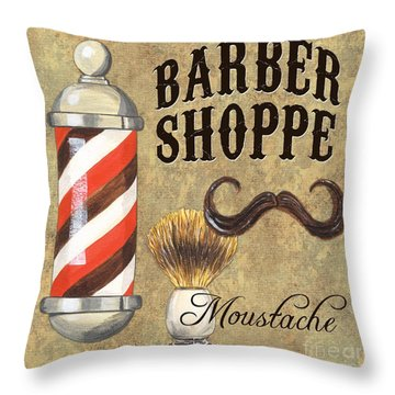 Barber Shoppe 1 Throw Pillow by Debbie DeWitt