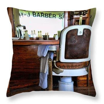 Barber - The Barber Shop Throw Pillow