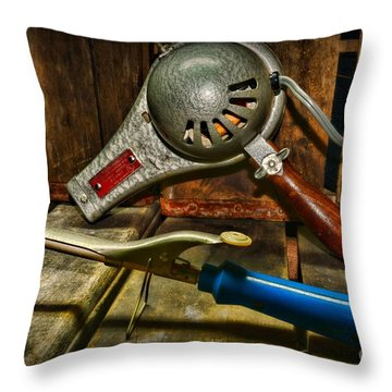 Barber - Vintage Hair Care Throw Pillow