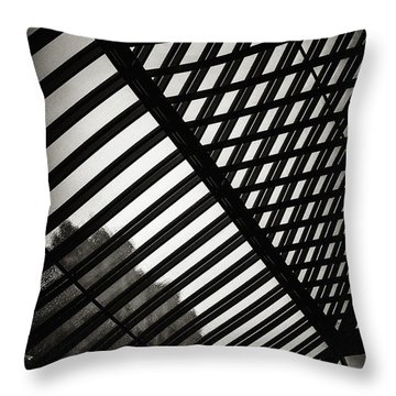 Barbican Grids Throw Pillow
