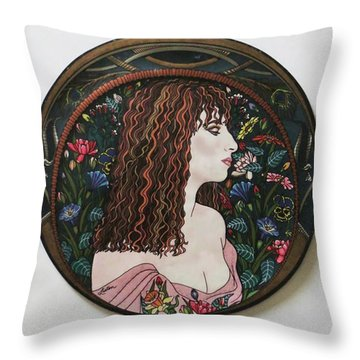 Barbra's Garden Throw Pillow