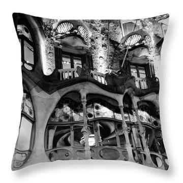 Barcelona - Casa Batllo Throw Pillow