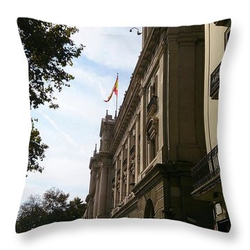 Barcelona Street Throw Pillow