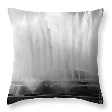 Barcelona Water Fountain Joy Throw Pillow by Haleh Mahbod