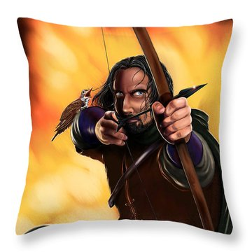 Bard The Bowman Throw Pillow