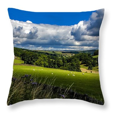 Barden Tower Throw Pillow by Trevor Kersley