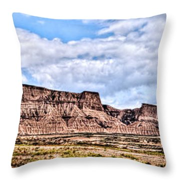 Bardenas Desert Panorama 1 Throw Pillow