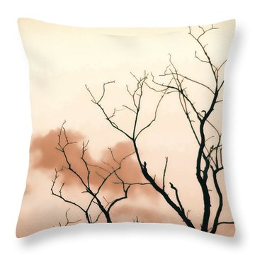 Bare Limbs Throw Pillow by Denise Romano