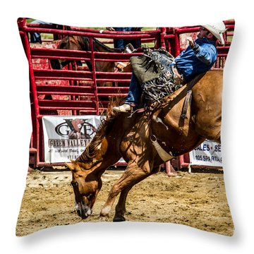 Bareback Riding Throw Pillow