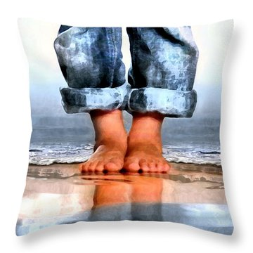 Barefoot Boy   Throw Pillow