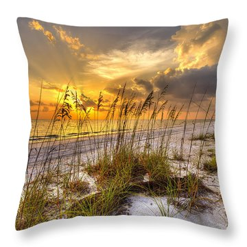 Barefot Sunset Throw Pillow