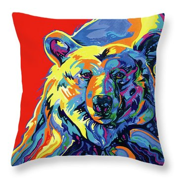 Barehead Throw Pillow by Derrick Higgins