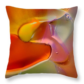 Barely A Bird Throw Pillow by Omaste Witkowski
