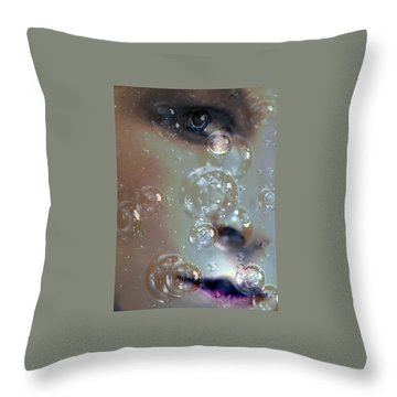 Throw Pillow featuring the photograph Barely Breathing by Lesa Fine