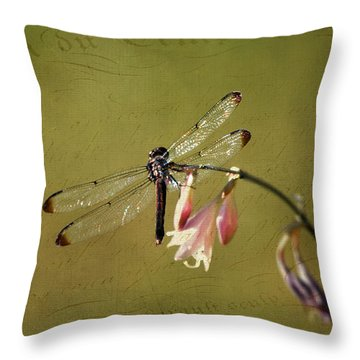 Barely Hanging On Throw Pillow