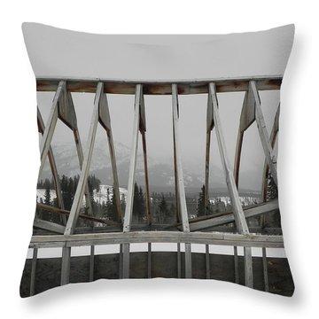 Barge Tent Throw Pillow