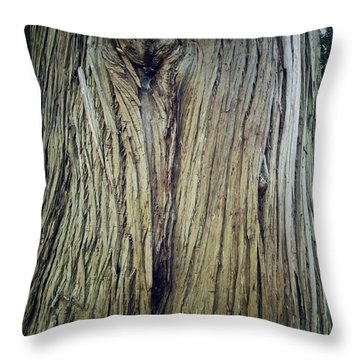 Bark Throw Pillow by Les Cunliffe