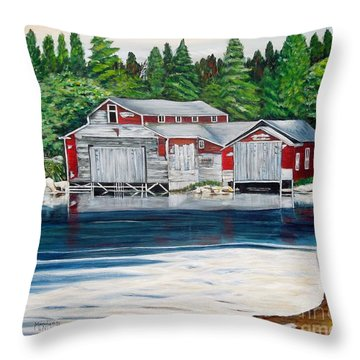 Barkhouse Boatshed Throw Pillow