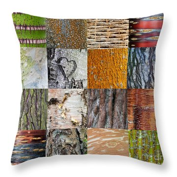 Barking Up The Right Tree Throw Pillow by Tim Gainey