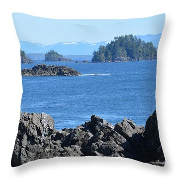 Barkley Sound And The Broken Island Group Ucluelet Bc Throw Pillow