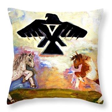 Barley There Gernonimo Throw Pillow by Ayasha Loya
