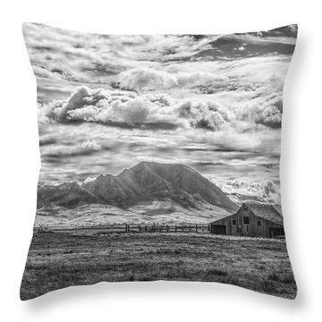 Barn And Bear Butte Throw Pillow