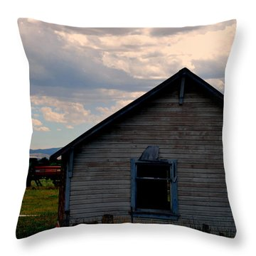 Throw Pillow featuring the photograph Barn And Tractor by Matt Harang