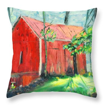 Barn At Walpack Throw Pillow