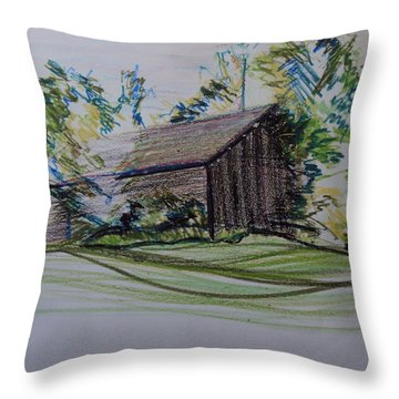 Old Barn At Wason Pond Throw Pillow by Sean Connolly