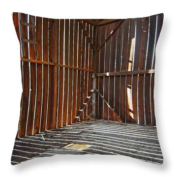 Throw Pillow featuring the photograph Barn Bones II by Jani Freimann