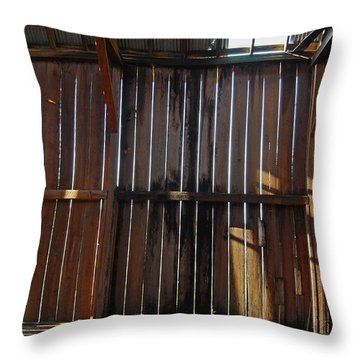 Throw Pillow featuring the photograph Barn Bones IIi by Jani Freimann
