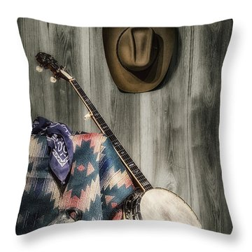 Barn Dance Hoe Down Throw Pillow by Tom Mc Nemar